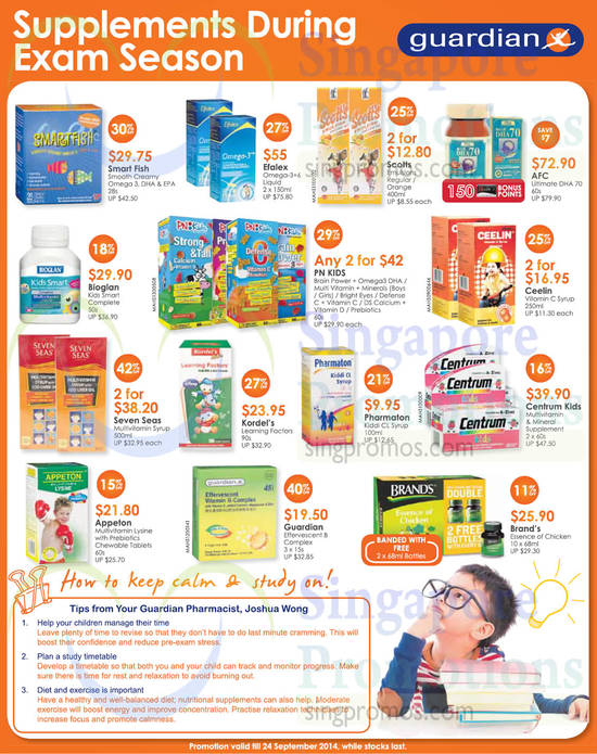 Efalex Omega-3+6 Liquid, AFC Ultimate DHA 70, Centrum Kids Multivitamin & Mineral Supplement