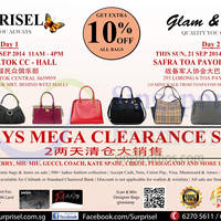 Surprisel Branded Handbags Sale @ Two Locations 20 - 21 Sep 2014