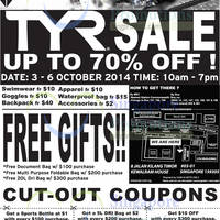 TYR Sale @ Kewalram House 3 - 6 Oct 2014