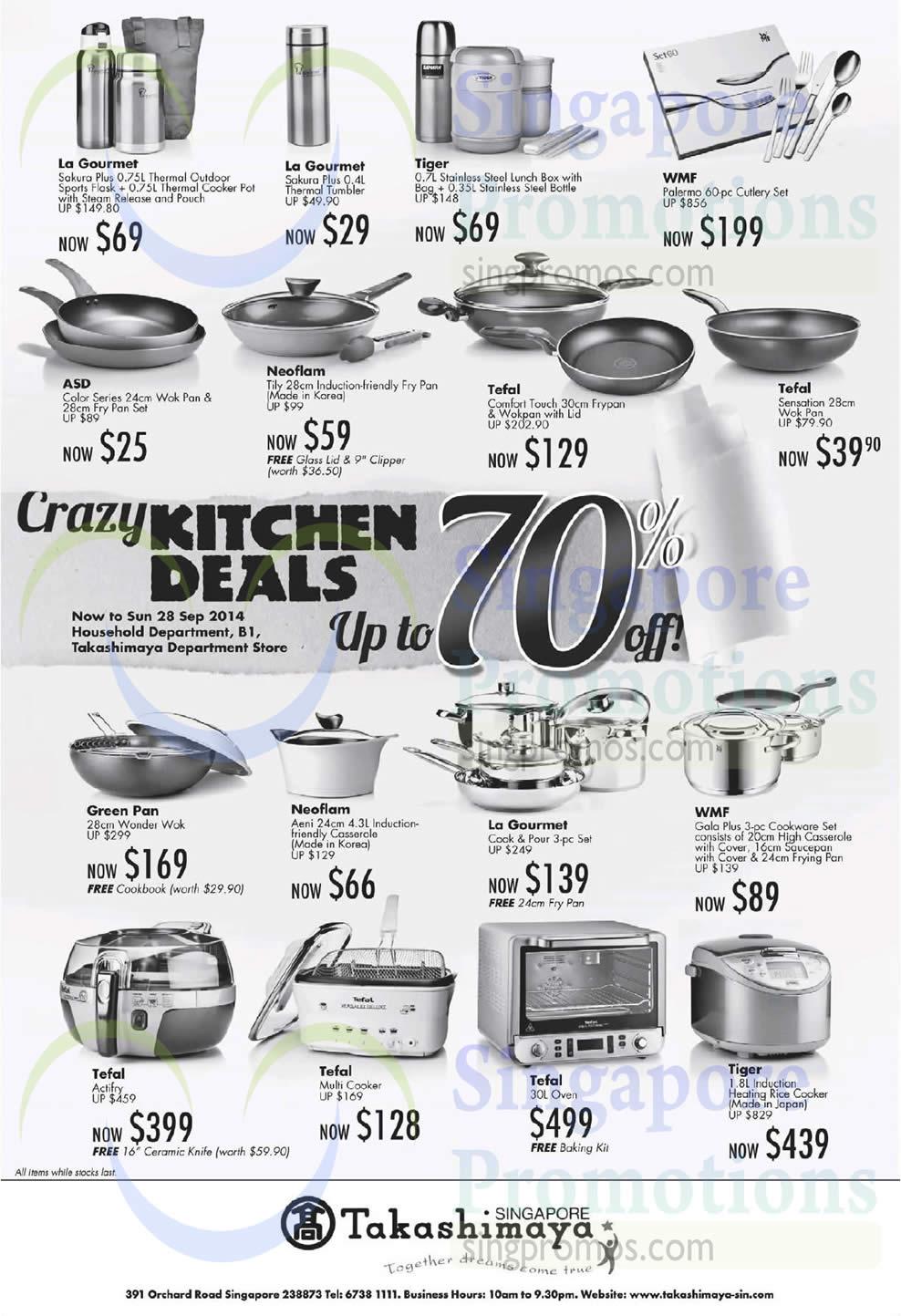 Takashimaya Crazy Kitchen Deals 12 – 28 Sep 2014