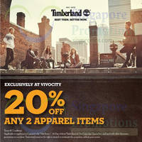 Read more about Timberland 20% OFF Promotion @ VivoCity 4 - 30 Sep 2014