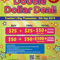 Read more about Timezone 100% Extra Double Dollar Promo 5 Sep 2014