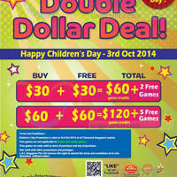Read more about Timezone Double Dollar Children's Day Promo 3 Oct 2014