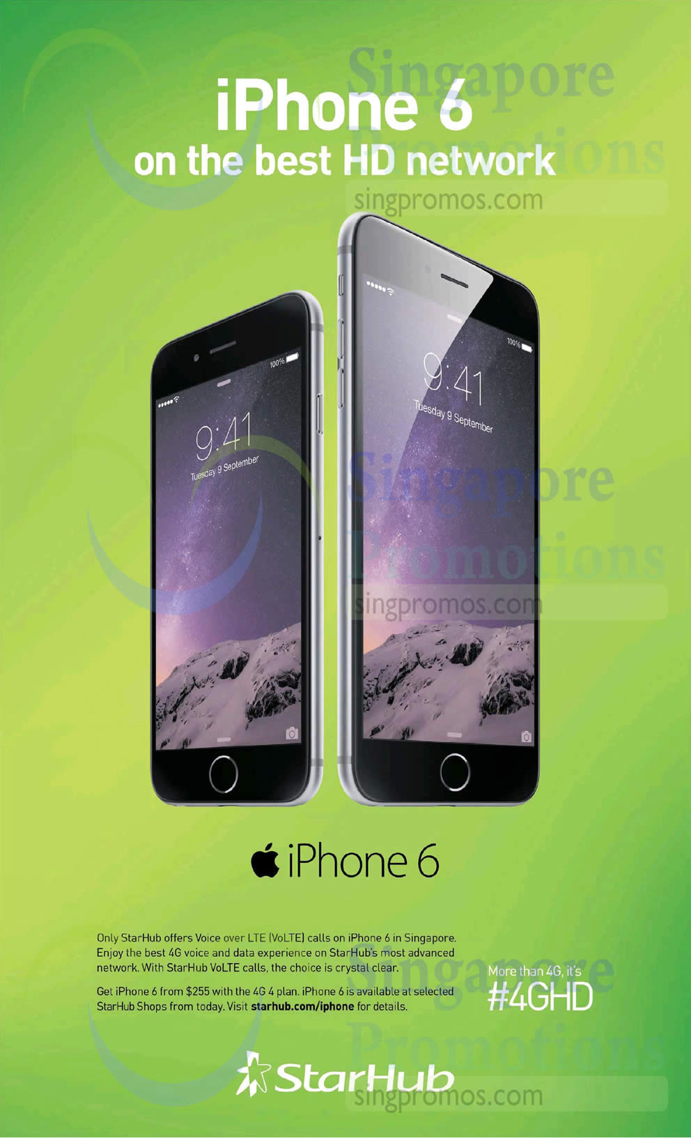 VoLTE on Apple iPhone 6, Apple iPhone 6 Plus
