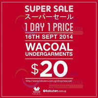 Read more about Wacoal $20 Undergarments 1-Day Online Promo 16 Sep 2014