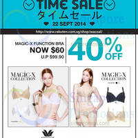Wacoal Magic-X Function Bra 1-Day Online Promo 22 Sep 2014