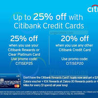 Zalora Up To 25% OFF Coupon Codes For Citibank Cardmembers 1 - 30 Sep 2014