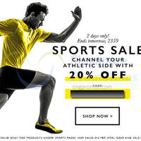 Zalora 20% OFF Sports Items Storewide (NO Min Spend) Coupon Code 23 - 24 Sep 2014