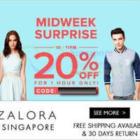 Read more about Zalora 20% OFF Storewide Coupon Code 1hr Only (NO Min Spend) 10 Sep 2014