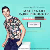 Read more about Zalora 15% OFF Storewide Coupon Code (NO Min Spend) 27 - 30 Sep 2014