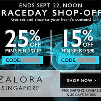 Zalora 25% OFF Storewide Coupon Code 20 - 22 Sep 2014