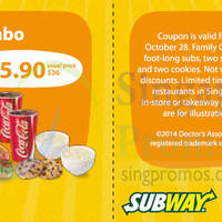 Read more about Subway Dine-in & Takeaway Discount Coupons 22 - 28 Oct 2014