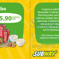 Read more about Subway Dine-in & Takeaway Discount Coupons 29 Oct - 4 Nov 2014