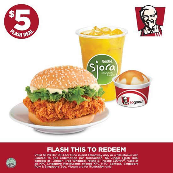 5 Dollar Zinger Meal, Sjora, Whipped Potato