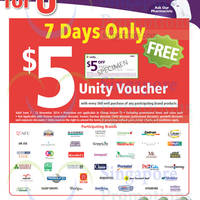 Read more about NTUC Unity Health Offers & Promotions 17 Oct - 13 Nov 2014