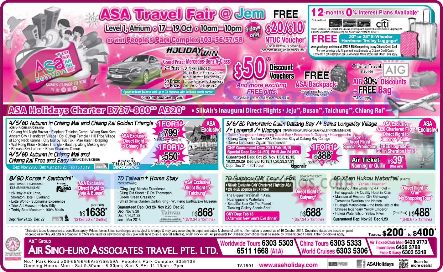ASA Travel Fair 17 Oct 2014