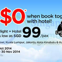 Air Asia Go Book A Hotel & Fly FREE 20 - 26 Oct 2014