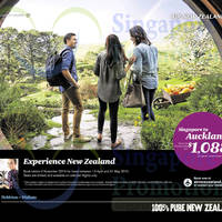 Read more about Air New Zealand Auckland $1088 Promo Air Fares 14 Oct - 2 Nov 2014