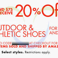 Read more about Amazon.com 20% OFF Outdoor & Athletic Shoes Coupon Code 16 - 25 Oct 2014