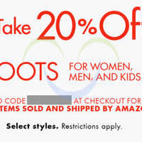 Read more about Amazon.com 20% OFF Boots Coupon Code (NO Min Spend) 20 Oct - 1 Nov 2014