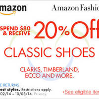Read more about Amazon.com 20% OFF Classic Shoes Coupon Code 4 - 9 Oct 2014