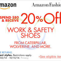 Read more about Amazon.com 20% OFF Work & Safety Shoes Coupon Code 4 - 16 Oct 2014