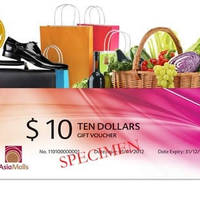 Asia Malls 10% OFF $100 Vouchers (Free Delivery) 22 Oct 2014