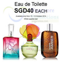 Read more about Bath & Body Works $40 Eau de Toilette Promo 10 - 12 Oct 2014