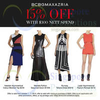 Bcbgmaxazria Spend $300 & Get 15% OFF 1 - 7 Oct 2014