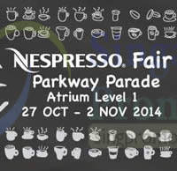Read more about Best Denki Nespresso Fair @ Parkway Parade 27 Oct - 2 Nov 2014
