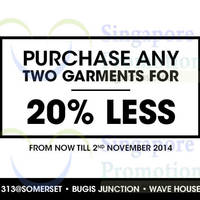 Read more about Billabong Any Two Garments For 20% Off 10 Oct - 2 Nov 2014