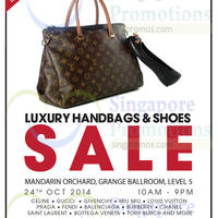 Read more about Brandsfever Handbags & Footwear Sale @ Mandarin Orchard 24 - 25 Oct 2014
