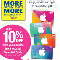 Read more about Cheers 10% OFF iTunes Gift Cards Promotion 14 - 27 Oct 2014