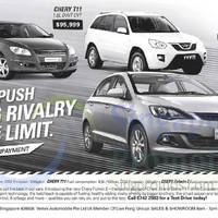 Chery J3, T11 & Fulwin 2 Offers 11 Oct 2014