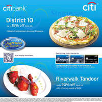 Read more about District 10 & Riverwalk Tandoor Up To 20% OFF For Citibank Cardmembers 19 Oct - 31 Dec 2014