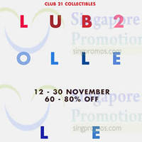 Club 21 Up to 80% Off Promotion @ Forum The Shopping Mall 12 - 30 Nov 2014