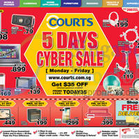 Read more about Courts 5 Days Cyber Sale 20 - 24 Oct 2014