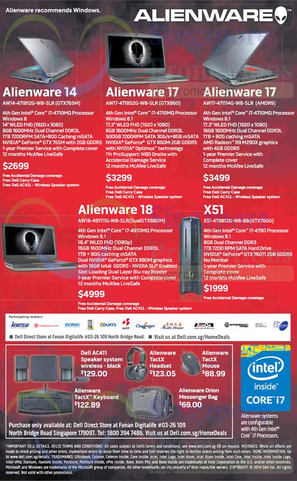 Dell Alienware 30 Oct 2014