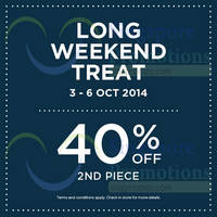 Read more about Dorothy Perkins 40% OFF 2nd Piece Promo 3 - 6 Oct 2014
