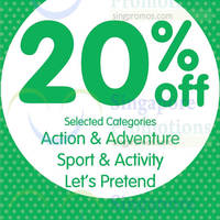 Early Learning Centre 20% OFF Selected Categories 24 Oct 2014