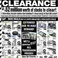 Read more about Courts Extended Massive Clearance Offers 4 - 7 Oct 2014
