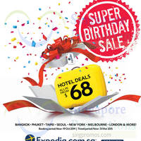 Read more about Expedia From $68 Hotels Super Birthday Sale 9 - 19 Oct 2014