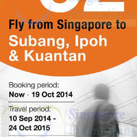 Read more about Firefly From $52 Subang, Ipoh & Kuantan Promo Air Fares 9 - 19 Oct 2014