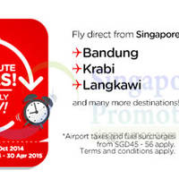 Read more about Air Asia From $5 (Base Fare) Promo Air Fares 13 - 19 Oct 2014