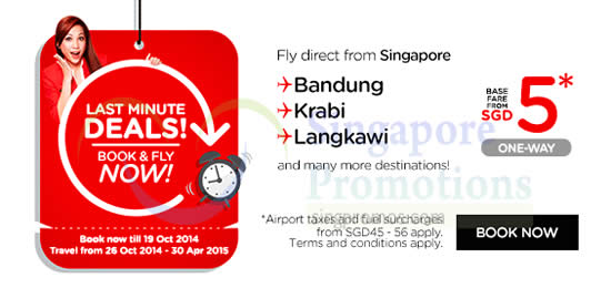 Fly From Singapore From SGD5