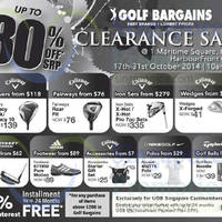 Golf Bargains Clearance Sale @ HarbourFront Centre 17 - 31 Oct 2014