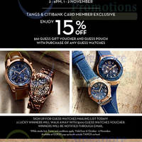 Guess Watches Weekend Special @ Tangs Orchard 31 Oct - 6 Nov 2014