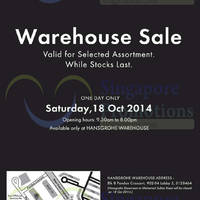 Read more about Hansgrohe 1-Day Warehouse Sale 18 Oct 2014