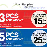 Hush Puppies Apparel Anniversary Sale @ Changi City Point 13 - 19 Oct 2014