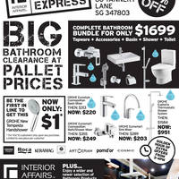 Read more about Interior Affairs Bathroom Clearance Sale 17 - 19 Oct 2014